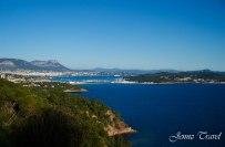 Golf de Toulon -Vue sur Toulon