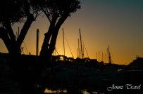 Couché de soleil à Six-fours-les-plages, var, port, mer, océan