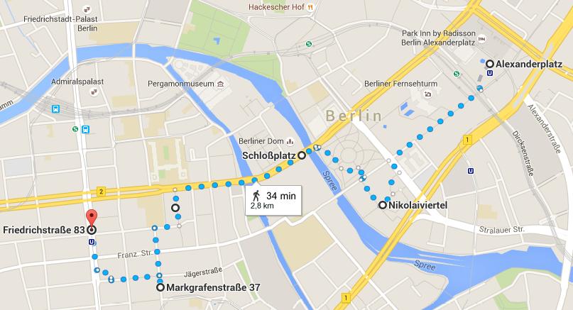 Balade Berlin (Alexanderplatz, Nikolaiviertel, Schloßplatz, Gendarmenmarkt, Friederichstraße)