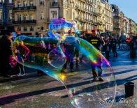 Bulle de savon à Bruxelles