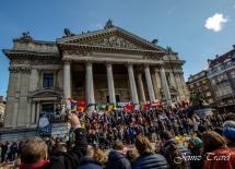 Place de la bourse Bruxelles après attentats