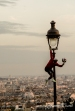 Artiste jongleur sur la butte de Montmartre